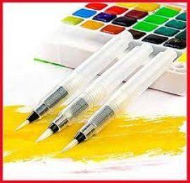 3pcs Water Brush Pen Set For Watercolor Paintings