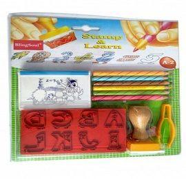 DIY Alphabet Stamps for Kids - Shiny (A2)