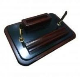 Executive Wooden Pen Stand With Visiting Card