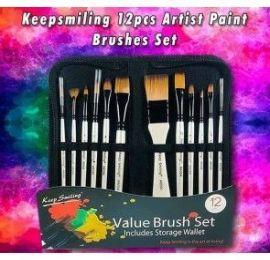 Keep smiling 12pcs Artist Paint Brushes Set