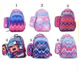 Rainbow Colors School Bags For Teenage Kids