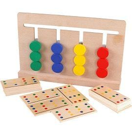 Wood Four Color Children Teaching Game Toy