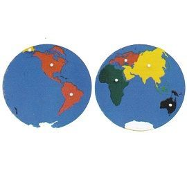 World Map Montessori - Montessori Map Puzzle
