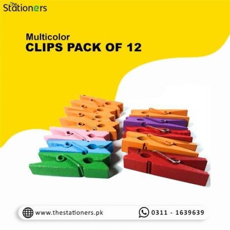 12 Multicolor Clips For Craft