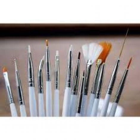 15pcs Nail Art Acrylic Painting Brush Set
