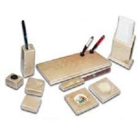 9 Pcs Marbel Desk Set - Executive Desk Organizer - Paper Weight