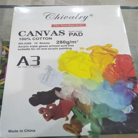 Canvas Pads 10 Sheets For Painting A3