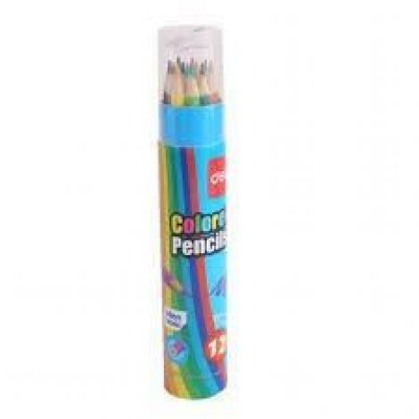 Deli Student Colored Pencil (12) (Tube Mini) (E7012)