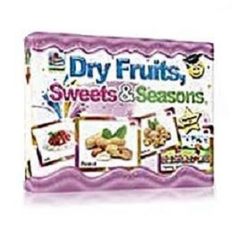 Fruits Flashcards - Dry Fruits Flashcards - Sweets & Seasons Flashcards