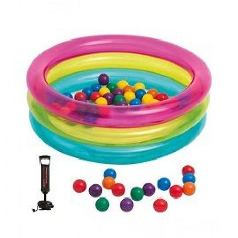 Intex Children's 3-Ring Inflatable Baby Ball Pit