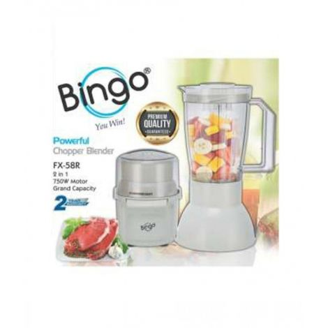 Bingo Deluxe Powerful Chopper Blender White FX-58R