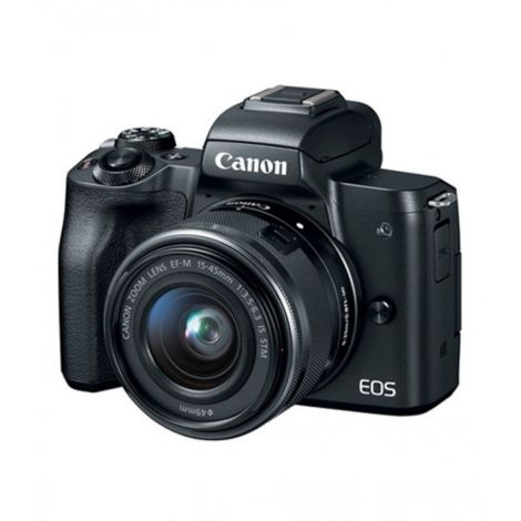 Canon EOS M50 Mirrorless Digital Camera With 15-45mm Lens Black