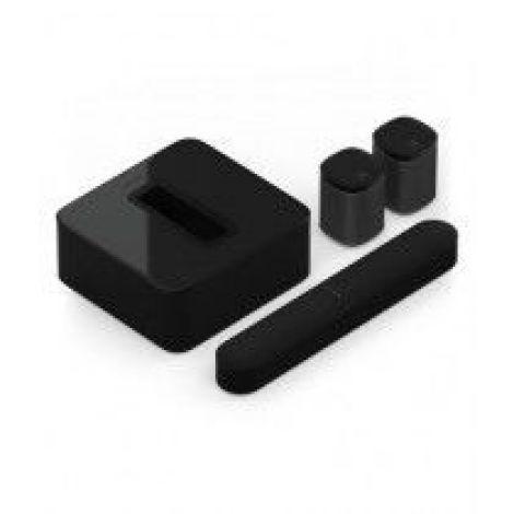 Sonos 5.1 Surround Set With Beam & Play 1 Speaker Black