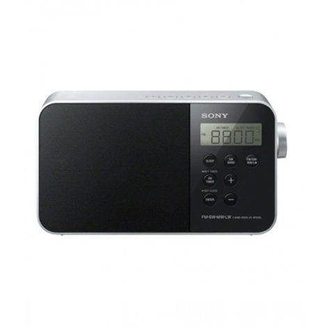 Sony Portable Digital Clock Radio Black ICF-M780SL