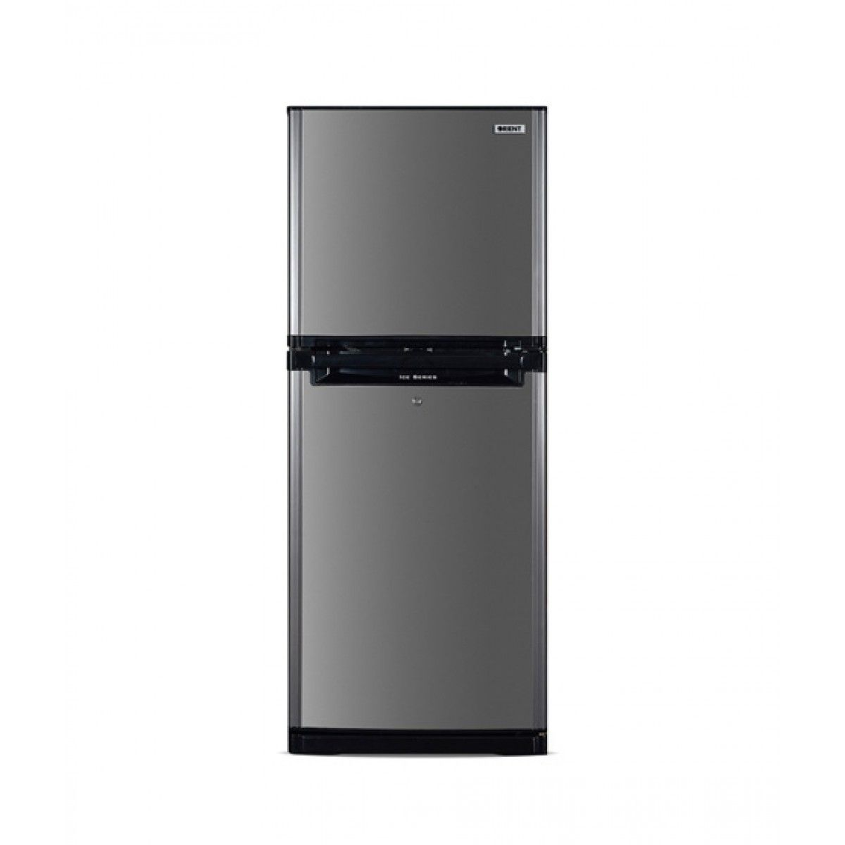 Orient Ice 330 Freezer-on-Top Refrigerator 11 Cu Ft Hair Line Silver (5554-1.4)