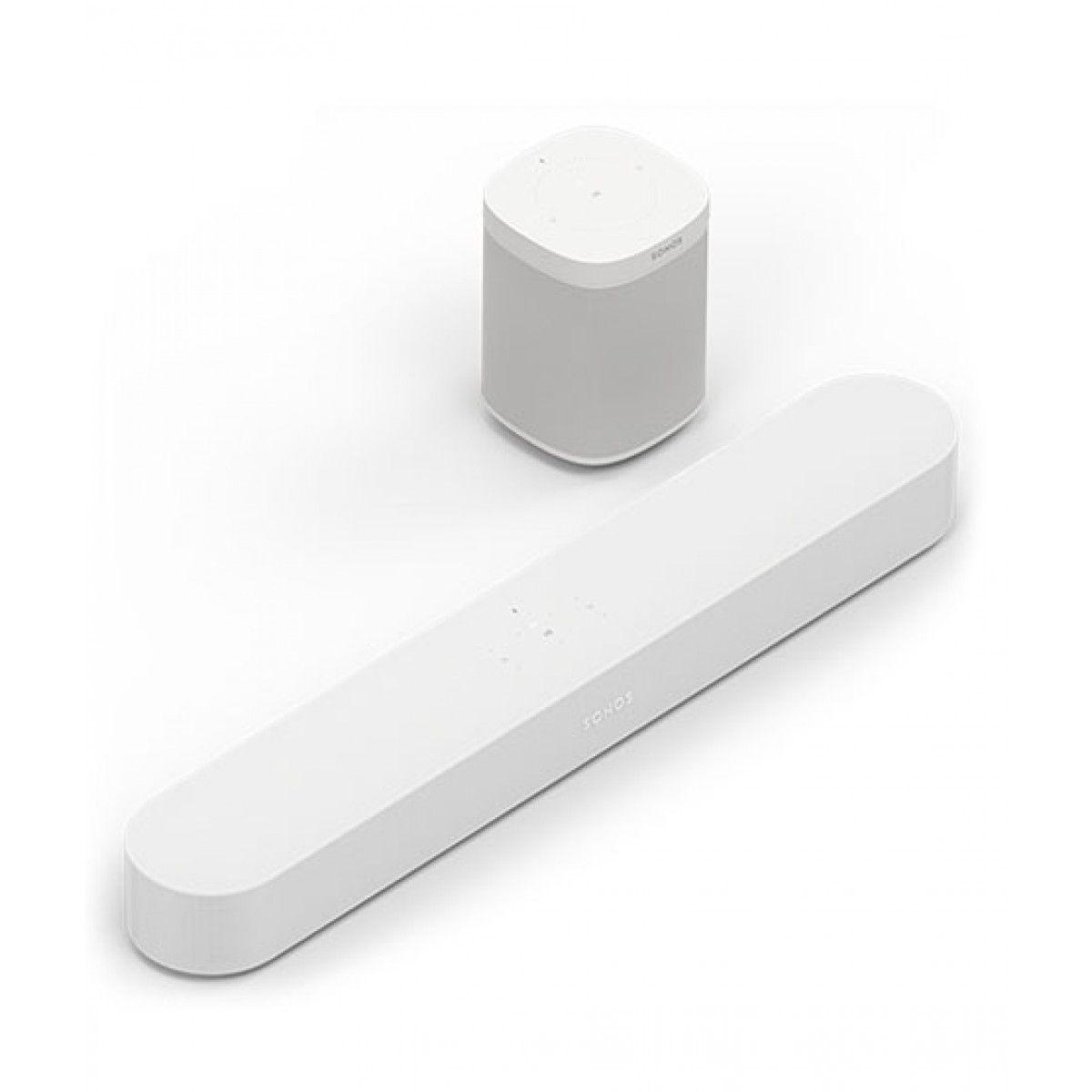 Sonos One Wireless Smart Speaker With Beam Set Of 2