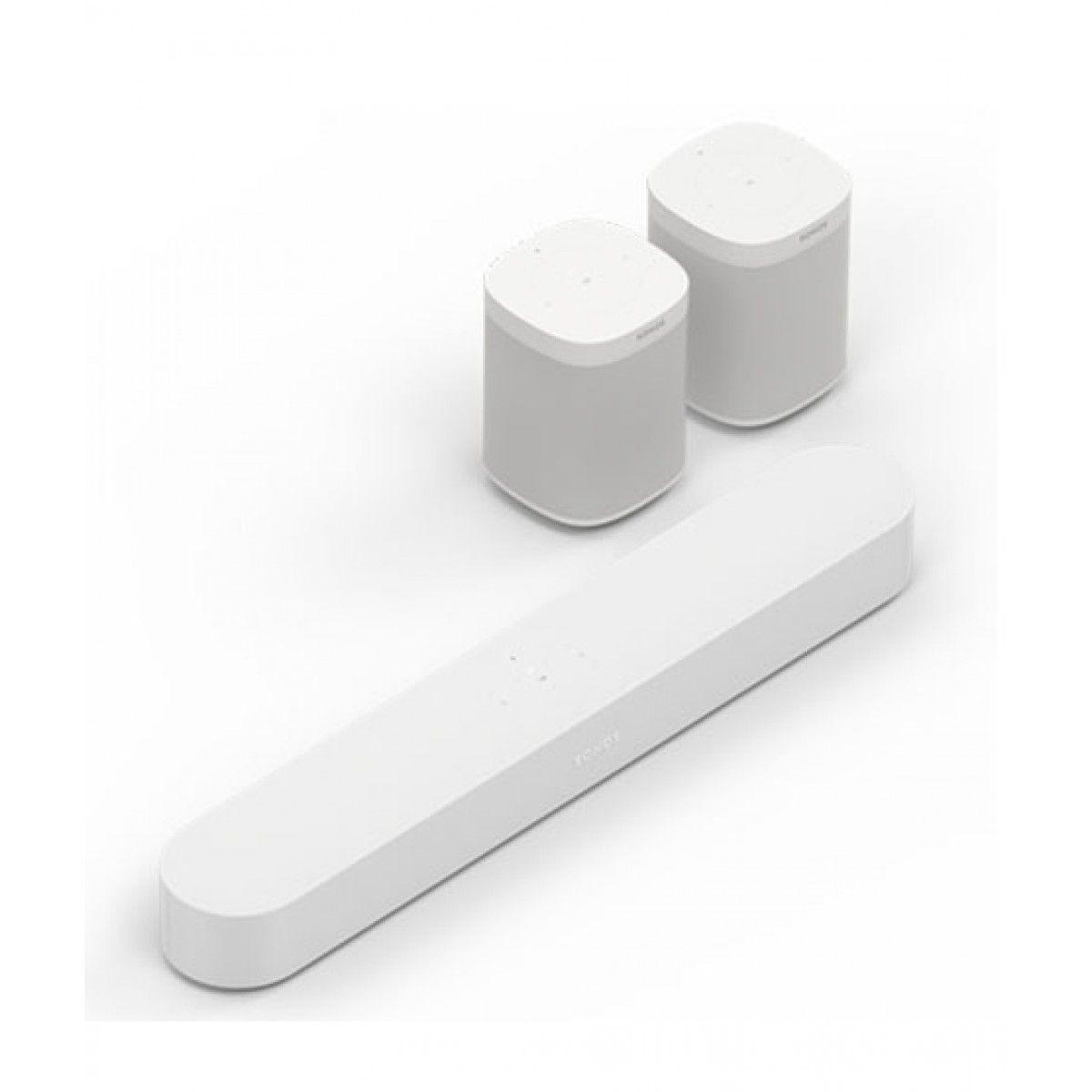 Sonos One Wireless Smart Speaker With Beam Set Of 3