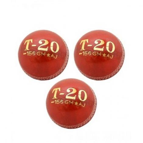 T-20 Cricket Hard Ball Red Pack Of 3