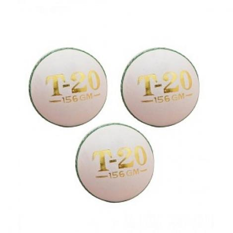 T-20 Cricket Hard Ball White Pack Of 3