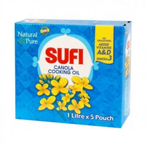 Canola Sufi Cooking Oil Carton 1Ltr 5 Pack