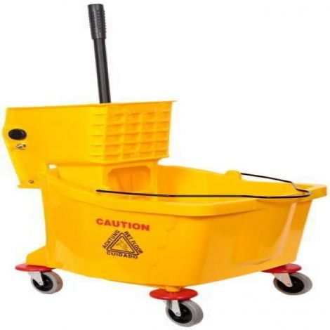 Deluxe Wringer Side Press Cleaning Mop Bucket & Trolley 36 Ltr