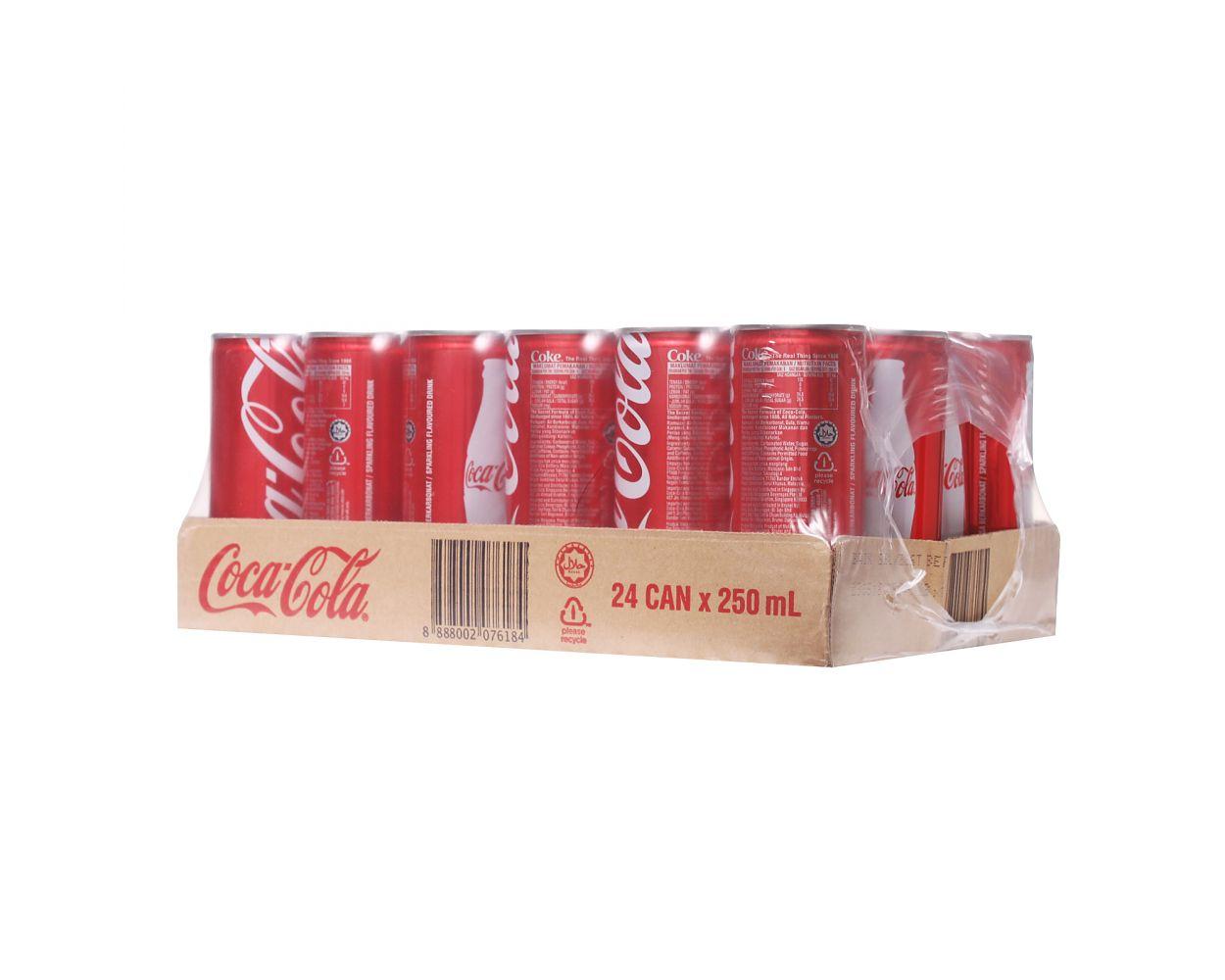 COCA COLA CAN CASE 250ML
