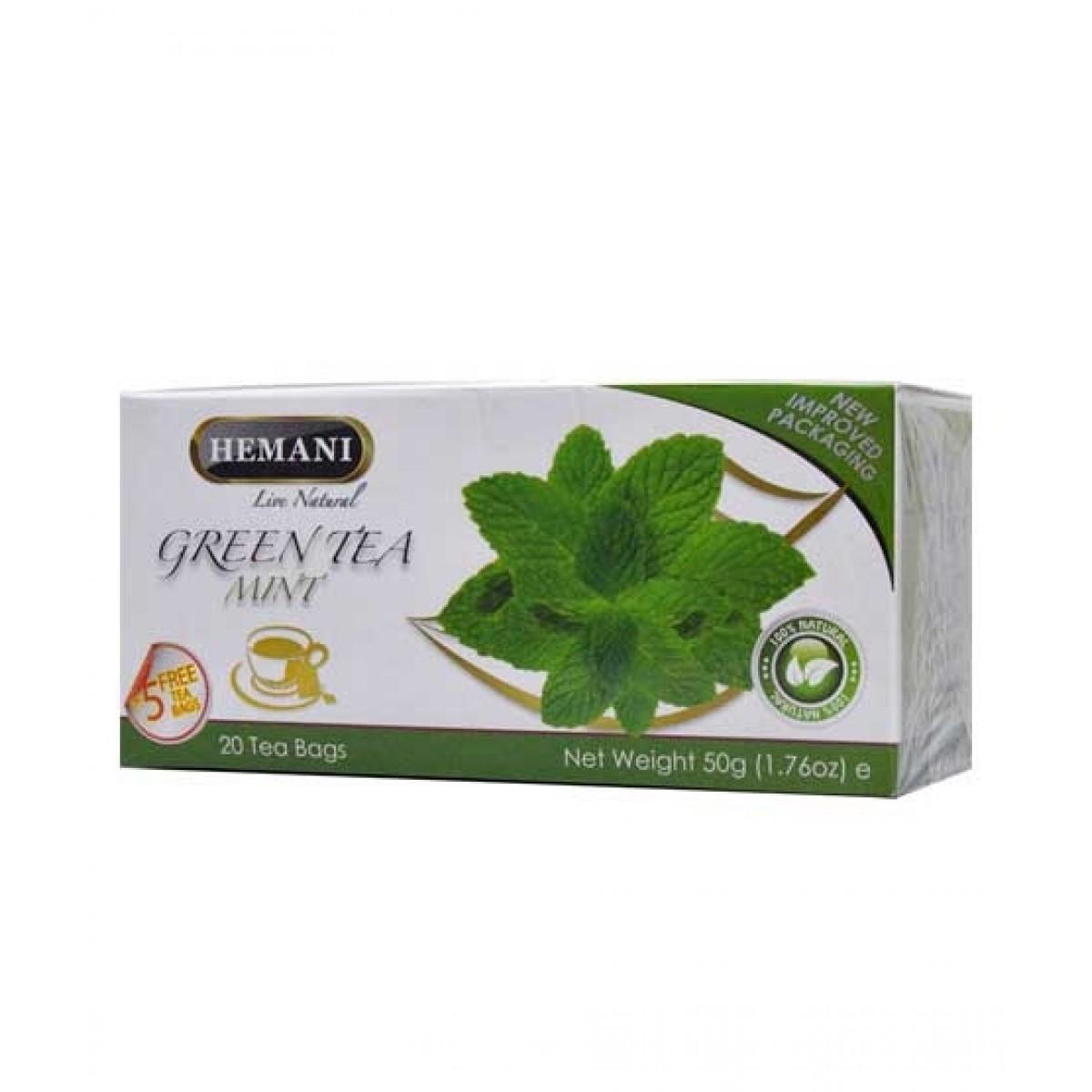 Hemani Mint Green Tea 20 Tea Bags
