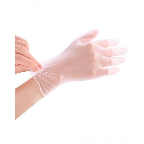 Safety Natural Rubber Disposable Gloves 100 pcs